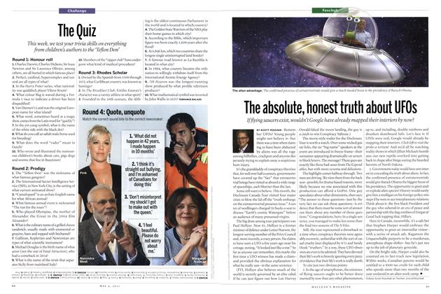 Article Preview: The Quiz, May 2015 | Maclean's
