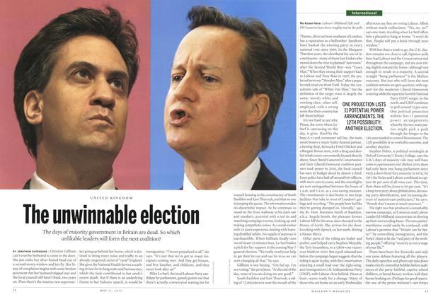 Article Preview: The unwinnable election, May 2015 | Maclean's