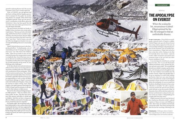 Article Preview: THE APOCAL YPSE ON EVEREST, May 2015 | Maclean's