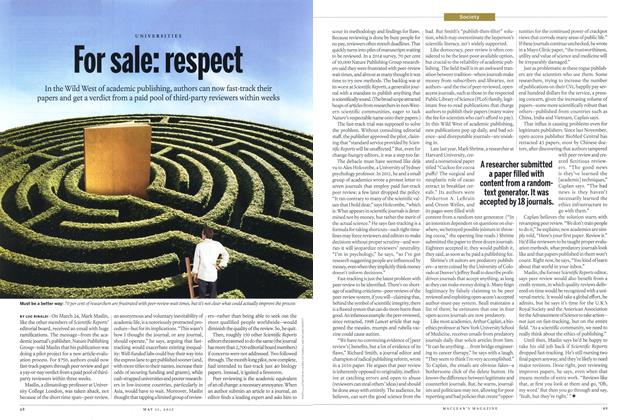 Article Preview: For sale: respect, May 2015 | Maclean's