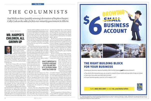 Article Preview: THE COLUMNISTS, May 2015 | Maclean's
