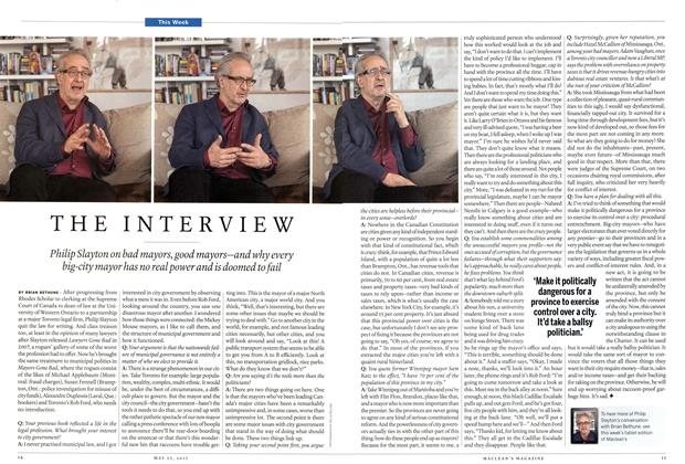 Article Preview: THE INTERVIEW, May 2015 | Maclean's