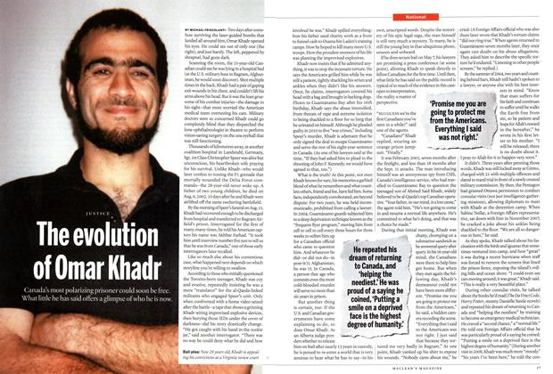 Article Preview: The evolution of Omar Khadr, May 2015 | Maclean's