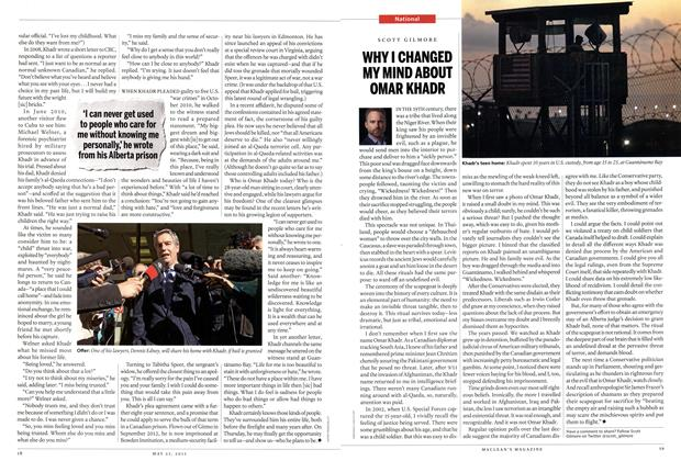 Article Preview: WHY I CHANGED MY MIND ABOUT OMAR KHADR, May 2015 | Maclean's