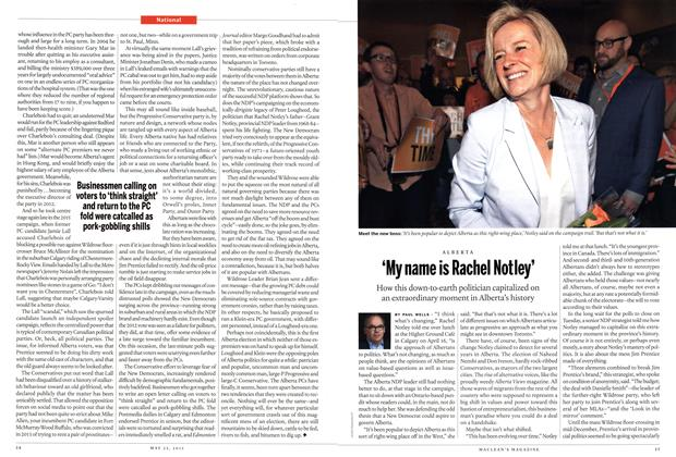 Article Preview: 'My name is Rachel Notley', May 2015 | Maclean's