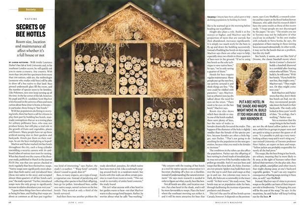 Article Preview: SECRETS OF BEE HOTELS, June 2015 | Maclean's
