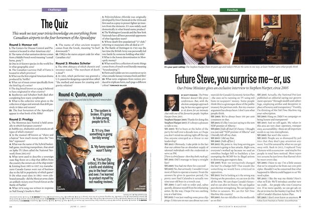 Article Preview: The Quiz, June 2015 | Maclean's