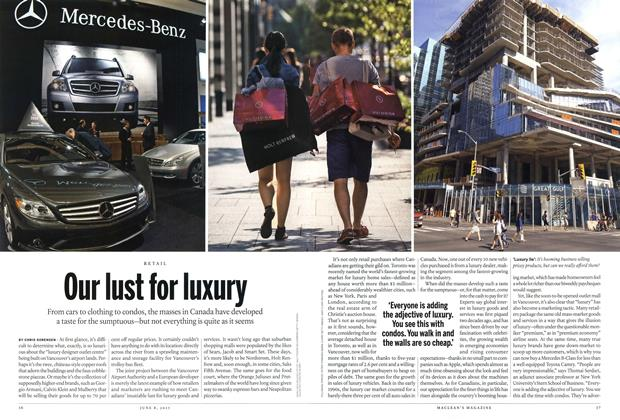 Article Preview: Our lust for luxury, June 2015 | Maclean's