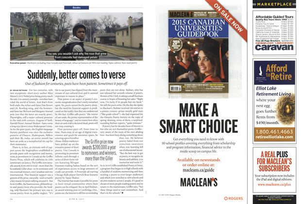 Article Preview: Suddenly, better comes to verse, June 2015 | Maclean's