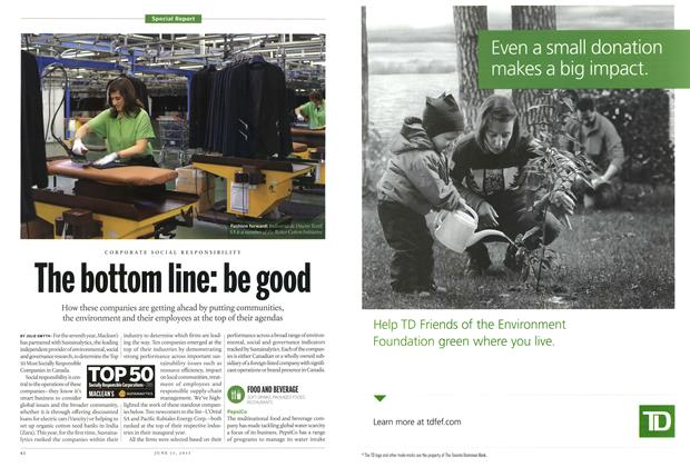 Article Preview: The bottom line: be good, June 2015 | Maclean's