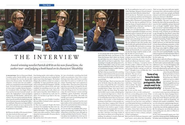 Article Preview: THE INTERVIEW, June 2015 | Maclean's