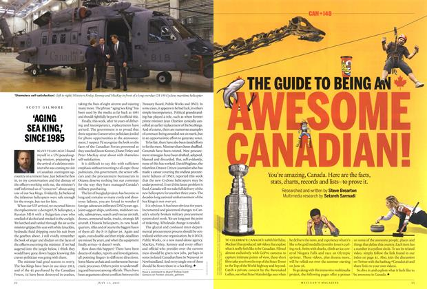 Article Preview: 'AGING SEA KING; SINCE 1985, July 2015 | Maclean's