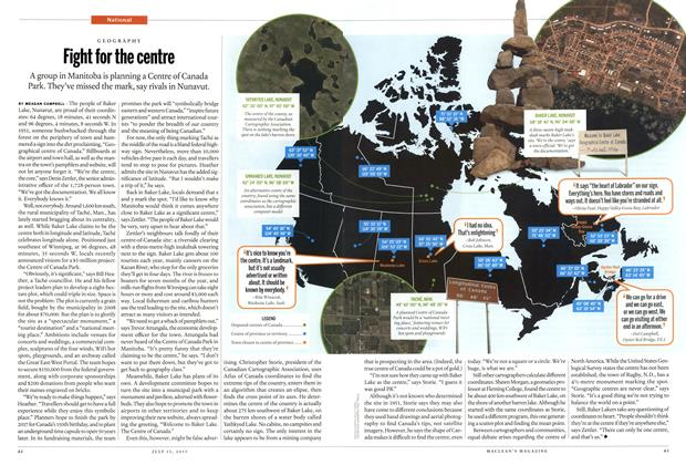 Article Preview: Fight for the centre, July 2015 | Maclean's