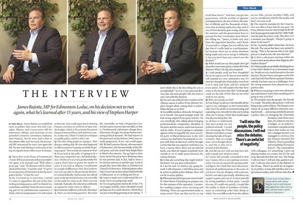 Article Preview: THE INTERVIEW, July 2015   Maclean's