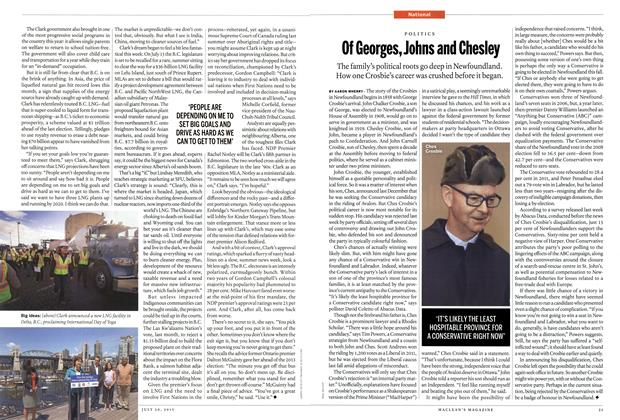 Article Preview: Of Georges, Johns and Chesley, July 2015 | Maclean's