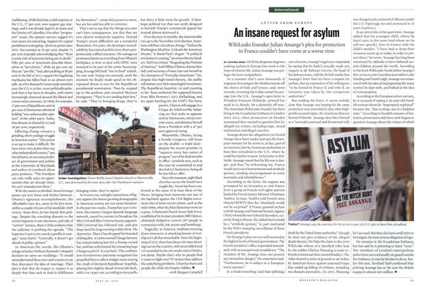 Article Preview: An insane request for asylum, July 2015 | Maclean's