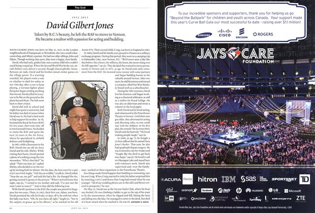 Article Preview: 1932-2015 David Gilbert Jones, July 2015 | Maclean's