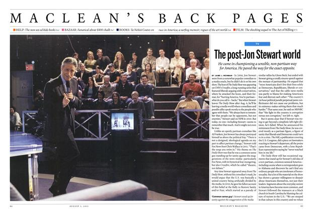 Article Preview: The post-Jon Stewart world, August 2015 | Maclean's
