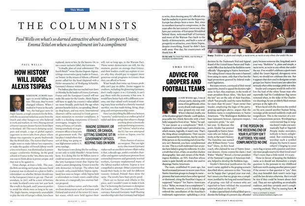 Article Preview: THE COLUMNISTS, August 2015 | Maclean's