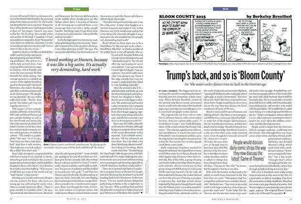 Article Preview: Trump's back, and so is 'Bloom County', August 2015 | Maclean's