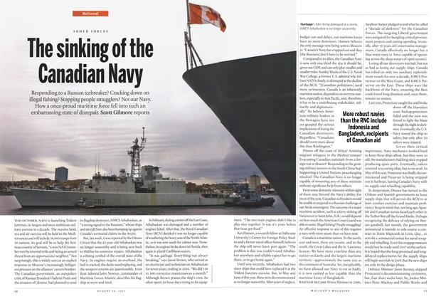 Article Preview: The sinking of the Canadian Navy, August 2015 | Maclean's