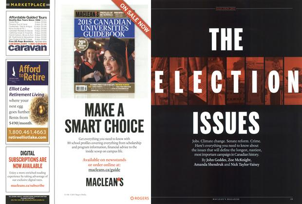 Article Preview: THE ELECTION ISSUES, August 2015 | Maclean's