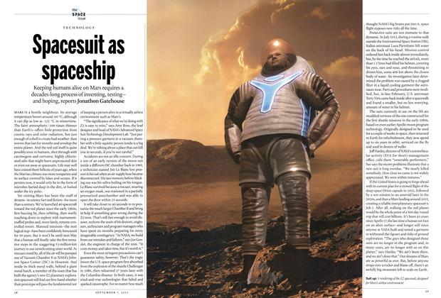 Article Preview: Spacesuit as spaceship, September 2015 | Maclean's