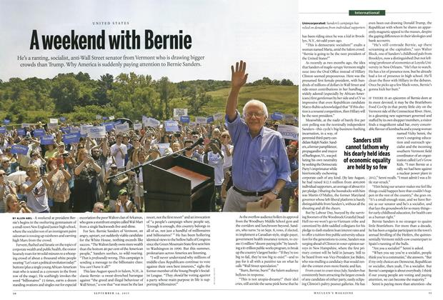 Article Preview: A weekend with Bernie, September 2015 | Maclean's
