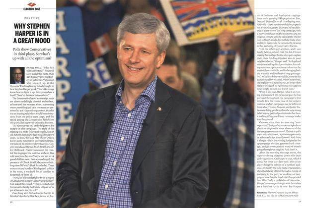 Article Preview: WHY STEPHEN HARPER IS IN A GREAT MOOD, September 2015 | Maclean's