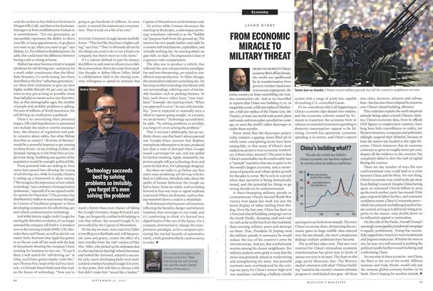 Article Preview: FROM ECONOMIC MIRACLE TO MILITARY THREAT, September 2015 | Maclean's
