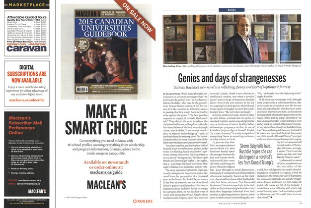 Article Preview: Genies and days of strangenesses, September 2015 | Maclean's