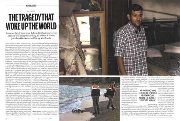 Article Preview: THE TRAGEDY THAT WOKE UP THE WORLD, September 2015 | Maclean's