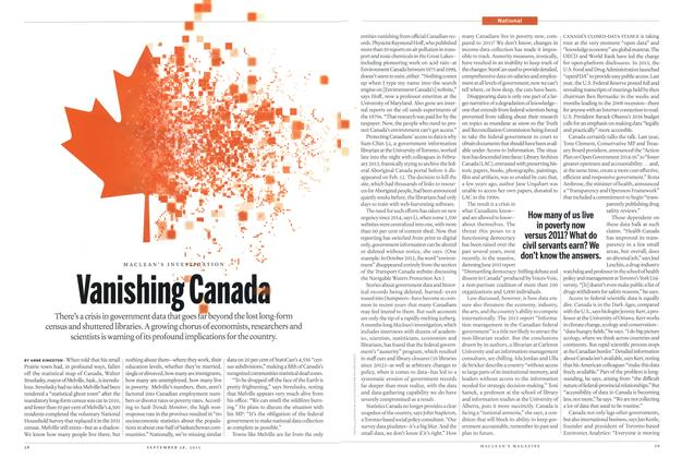 Article Preview: Vanishing Canada, September 2015 | Maclean's