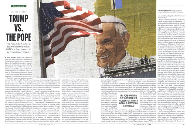 Article Preview: TRUMP VS. THE POPE, September 2015 | Maclean's
