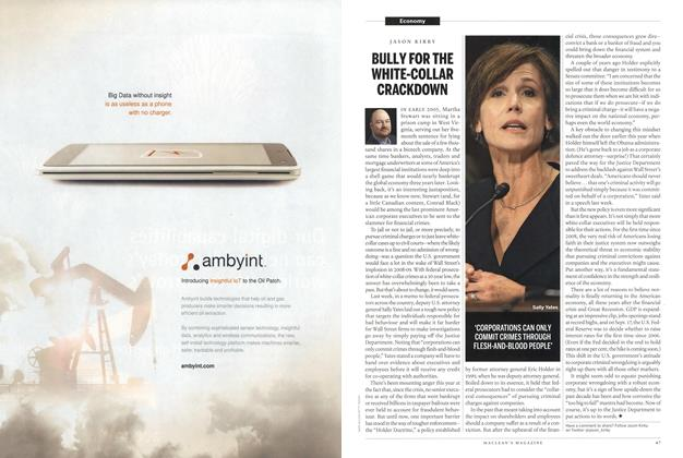 Article Preview: BULLY FOR THE WHITE-COLLAR CRACKDOWN, September 2015 | Maclean's