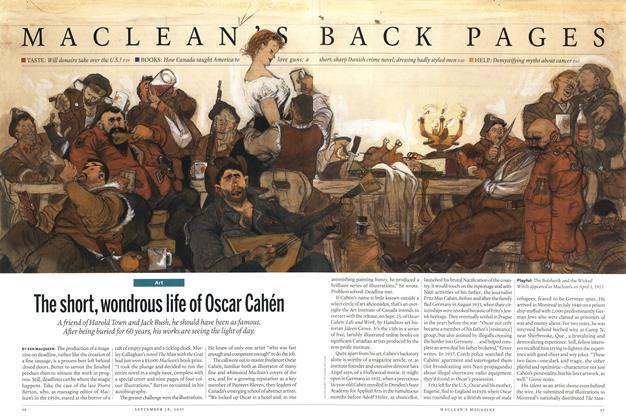 Article Preview: The short, wondrous life of Oscar Cahén, September 2015 | Maclean's
