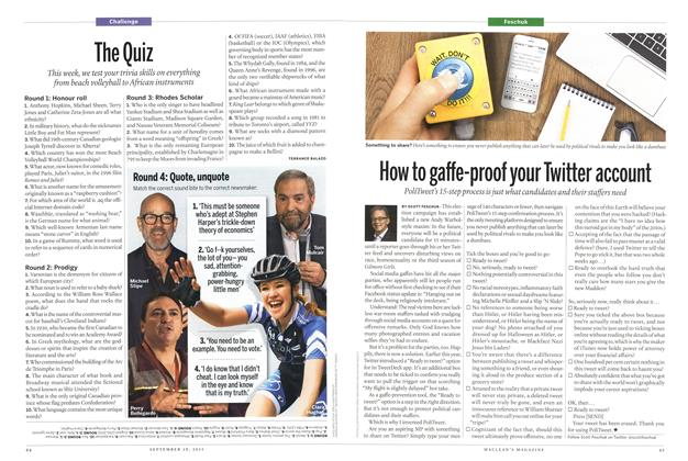 Article Preview: How to gaffe-proof your Twitter account, September 2015 | Maclean's