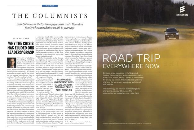 Article Preview: THE COLUMNISTS, September 2015 | Maclean's