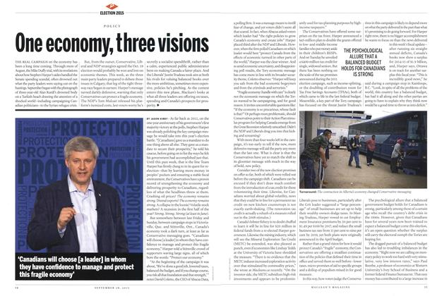 Article Preview: One economy, three visions, September 2015 | Maclean's