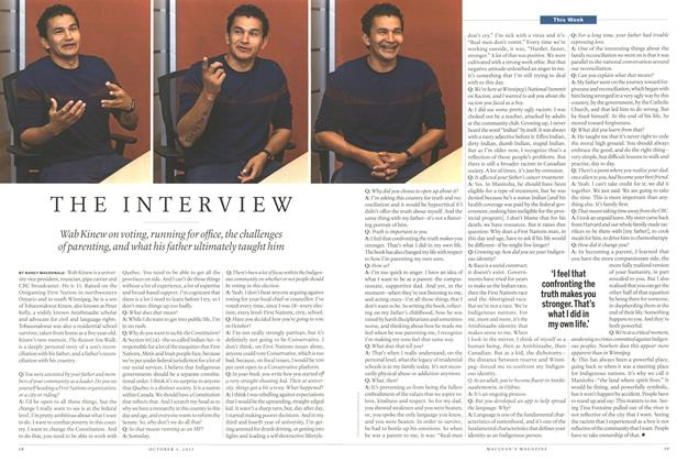 Article Preview: The Interview, October 2015 | Maclean's