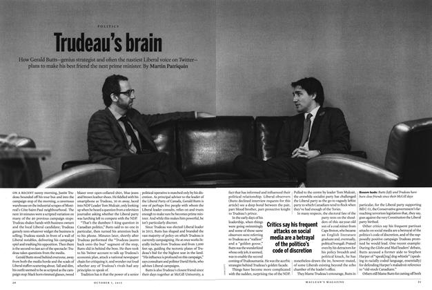 Article Preview: Trudeau's Brain, October 2015 | Maclean's