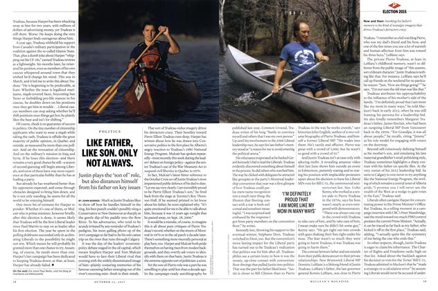 Article Preview: LIKE FATHER, LIKE SON. ONLY NOT ALWAYS., October 2015 | Maclean's