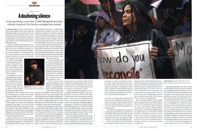 Article Preview: A deafening silence, October 2015 | Maclean's