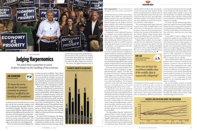 Article Preview: Judging Harpernomics, October 2015 | Maclean's