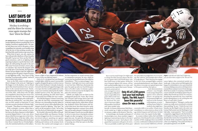 Article Preview: LAST DAYS OF THE BRAWLER, October 2015 | Maclean's
