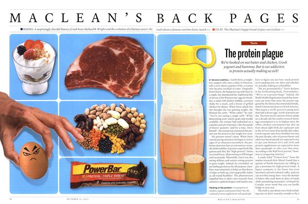 Article Preview: The protein plague, October 2015 | Maclean's