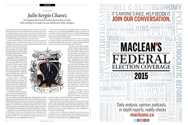 Article Preview: 1924-2015 Julio Sergio Chavez, October 2015 | Maclean's