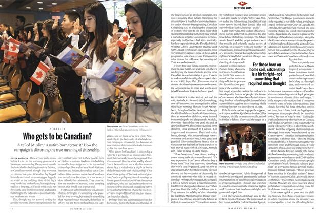 Article Preview: Who gets to be Canadian?, October 2015 | Maclean's