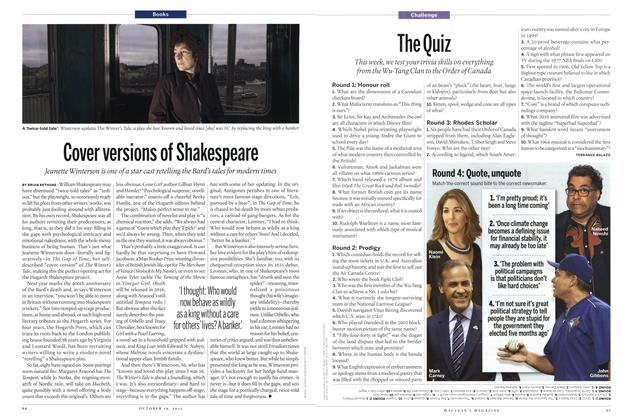 Article Preview: The Quiz, October 2015 | Maclean's
