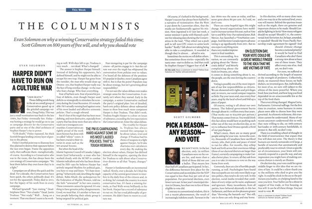 Article Preview: THE COLUMNISTS, October 2015 | Maclean's